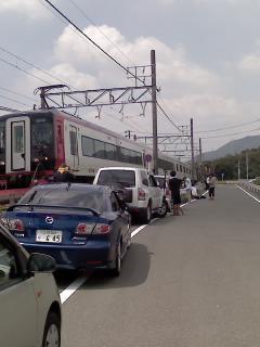 名電赤坂駅付近で撮影会?